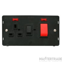 Click Definity 45A Cooker Switch with Neon & 13A Socket SIN205BK