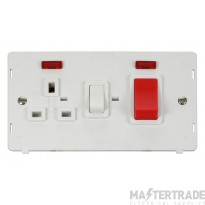 Click Definity 45A Cooker Switch with Neon & 13A Socket SIN205PW