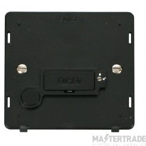 Click Definity 13A Connection Unit Interior Fused Lockable c/w FO Black SIN250BK