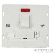 Click Definity 13A Connection Unit Interior Switched Fused Lockable Polar White SIN252PW