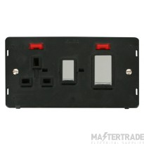 Click Definity 45A DP Cooker Socket With Neon Insert SIN505BKCH