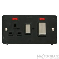 Click Definity 45A DP Cooker Socket With Neon Insert SIN505BKSS