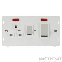 Click Definity 45A DP Cooker Socket With Neon Insert SIN505PWCH