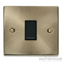 Click Deco Antique Brass 1 Gang 2 Way Switch VPAB011BK