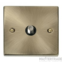 Click Deco Antique Brass Non-Isolated Satellite Socket VPAB156BK