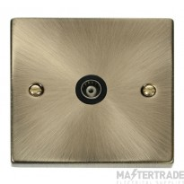 Click Deco Antique Brass Isolated Coaxial Socket VPAB158BK