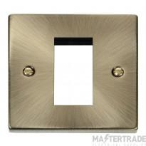 Click Deco Antique Brass New Media Single Aperture Plate VPAB310