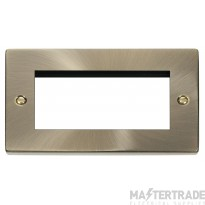 Click Deco Antique Brass New Media Quad Aperture  Plate VPAB312