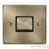Click Deco Antique Brass 3 Pole Fan Isolator Switch VPAB520BK