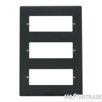 Click Mode Part M Plate 18 Gang 3 Tier Minigrid Module Anthracite Grey VPAG518