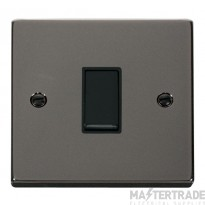 Click Deco Black Nickel 1 Gang 2 Way Switch VPBN011BK