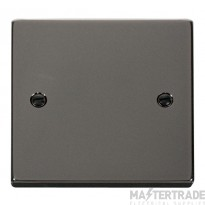Click Deco Black Nickel 1 Gang Blank Plate VPBN060