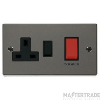Click Black Nickel 45A DP Switch and Socket VPBN204BK
