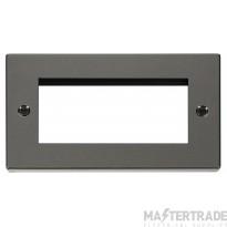 Click Deco Black Nickel New Media Quad Aperture Plate VPBN312