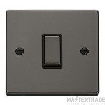 Click Deco Black Nickel 1 Gang 2 Way Switch VPBN411BK