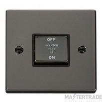 Click Deco Black Nickel 3 Pole Fan Isolator Switch VPBN520BK