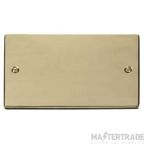 Click Deco Polished Brass 2 Gang Blank Plate VPBR061