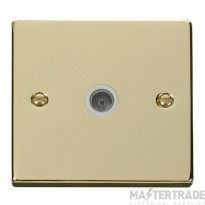 Click Deco Polished Brass Non-Isolated Coaxial Socket VPBR065WH