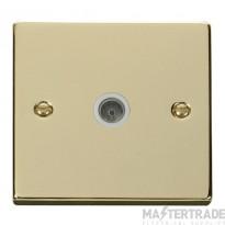 Click VPBR065WH Socket CoAx Single PB