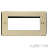 Click Deco Polished Brass 2 Gang Quad Aper New Media VPBR312