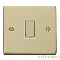 Click Deco Polished Brass 1 Gang 2 Way Switch VPBR411WH