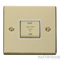 Click Deco Polished Brass 3 Pole Fan Isolator Switch VPBR520WH