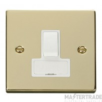Click Deco Polished Brass Switched Fused Spur VPBR651WH