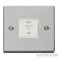 Click Deco Polished Chrome 3 Pole Fan Isolator Switch VPCH020WH