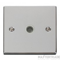 Click Deco Polished Chrome Non-Isolated Coaxial Socket VPCH065WH