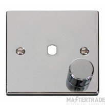 Click Polished Chrome 1G Empty Dimmer Plate with Knob VPCH140PL