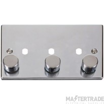 Click Polished Chrome 3G Empty Dimmer Plate with Knobs VPCH153PL