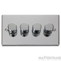 Click Deco Polished Chrome 4 Gang 2 Way Dimmer Switch VPCH154