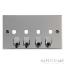 Click Polished Chrome 4G Empty Dimmer Plate with Knobs VPCH154PL