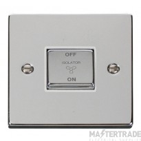 Click Deco Polished Chrome 3 Pole Fan Isolator Switch VPCH520WH