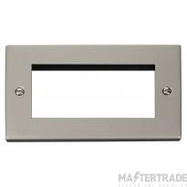 Click Deco Pearl Nickel New Media Quad Aperture Plate VPPN312