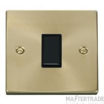 Click Deco Satin Brass 1 Gang 2 Way Switch VPSB011BK
