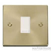 Click Deco Satin Brass 1 Gang 2 Way Switch VPSB011WH