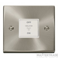Click Deco Satin Chrome 3 Pole Fan Isolator Switch VPSC020WH