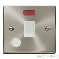 Click Deco 20A Switch DP c/w Neon Satin Chrome VPSC023WH