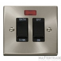 Click Deco Satin Chrome 20A DP Sink/Bath Switch VPSC024BK