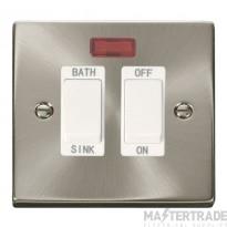 Click Deco Satin Chrome 20A DP Sink/Bath Switch VPSC024WH
