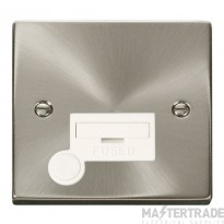 Click Deco Satin Chrome Unswitched Fused Spur + F/O VPSC050WH