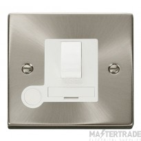 Click Deco Satin Chrome Switched Fused Spur + F/O VPSC051WH