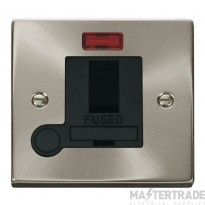 Click Deco Satin Chrome Switched Fused Spur Neon + F/O VPSC052BK