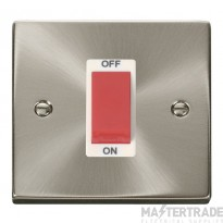 Click Deco Satin Chrome 1 Gang 45A Double Pole Switch VPSC200WH