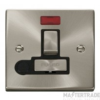 Click Deco Satin Chrome Switched Fused Spur Neon + F/O VPSC552BK