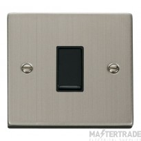 Click Deco Stainless Steel 1 Gang 2 Way Switch VPSS011BK