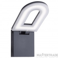 Searchlight 0583GY 1 Light Outdoor Wall Light With Frosted Diffuser In Grey