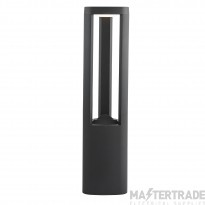 Searchlight 1005-500GY LED Outdoor Post Light With Clear Diffuser In Grey - Height: 500mm
