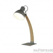 Searchlight Nanna  Table Lamp, Light Wood, Matt Grey
